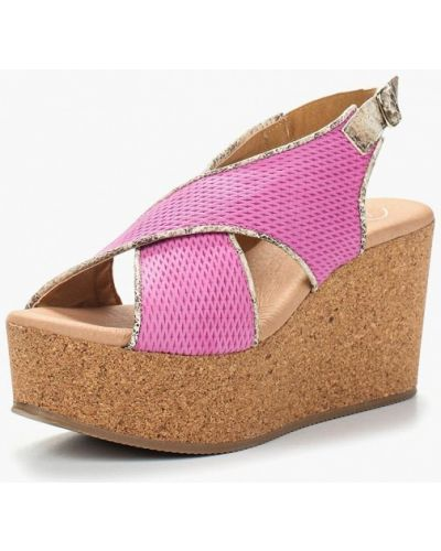 Розовые босоножки на каблуке Dali