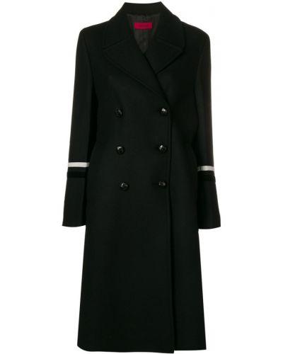 Шерстяное черное пальто с капюшоном The Gigi