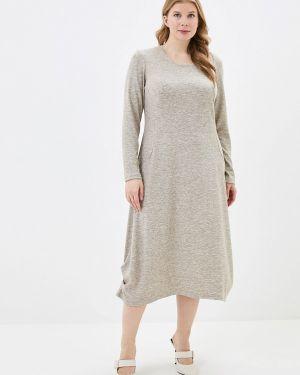 Повседневное платье осеннее бежевое Berkline
