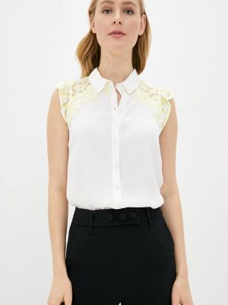Блузка без рукавов белая весенний Naf Naf