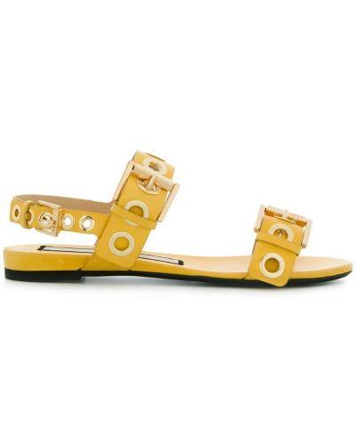 Оранжевые сандалии на шнуровке N21