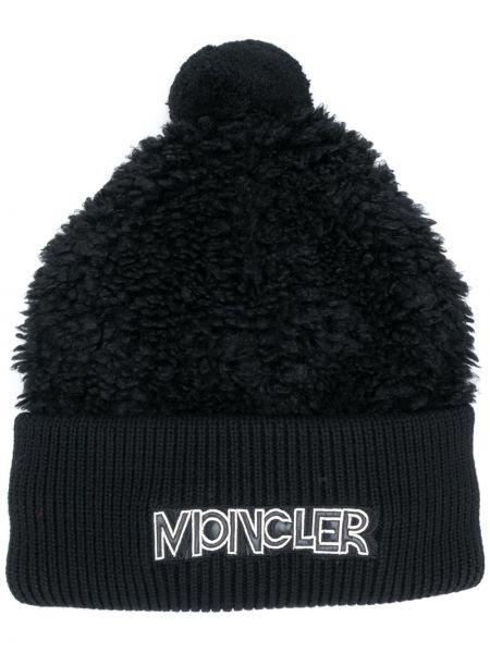 Prążkowany czarny kapelusz Moncler Grenoble