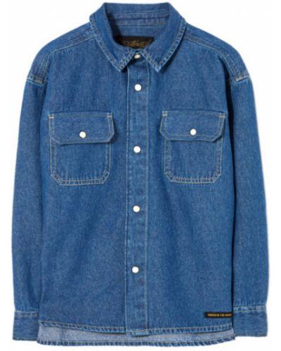 Niebieska koszula jeansowa Finger In The Nose