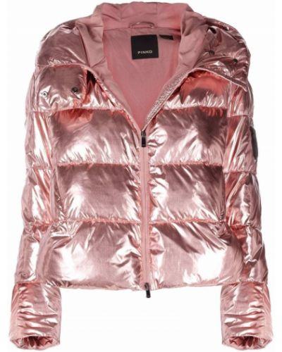 Куртка с капюшоном - розовая Pinko