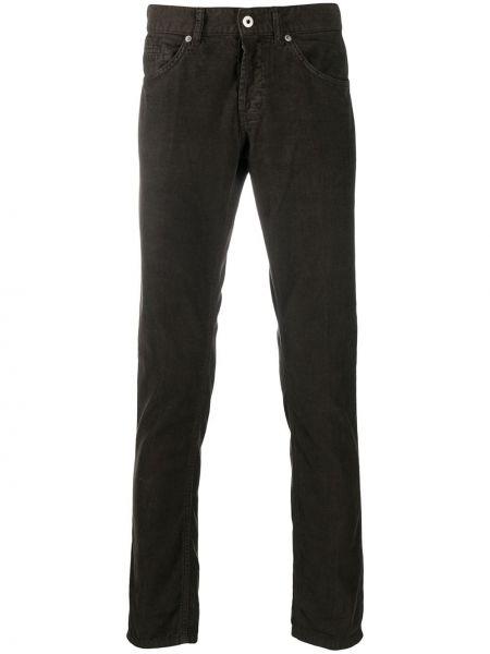 Bawełna bawełna brązowy klasyczne spodnie z kieszeniami Dondup