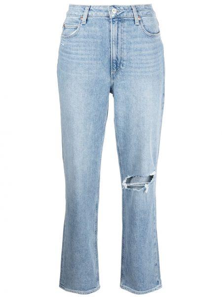 Хлопковые прямые джинсы классические на молнии Paige