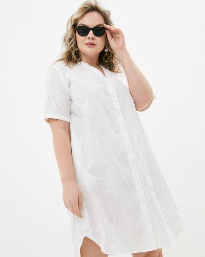 Белое платье-рубашка Allegri