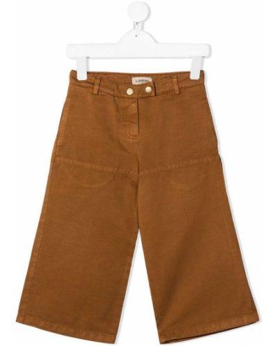Bawełna bawełna brązowy spodnie culotte bezpłatne cięcie Lanvin Enfant