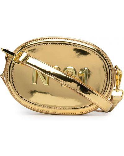 Золотистая черная поясная сумка на молнии Nº21 Kids