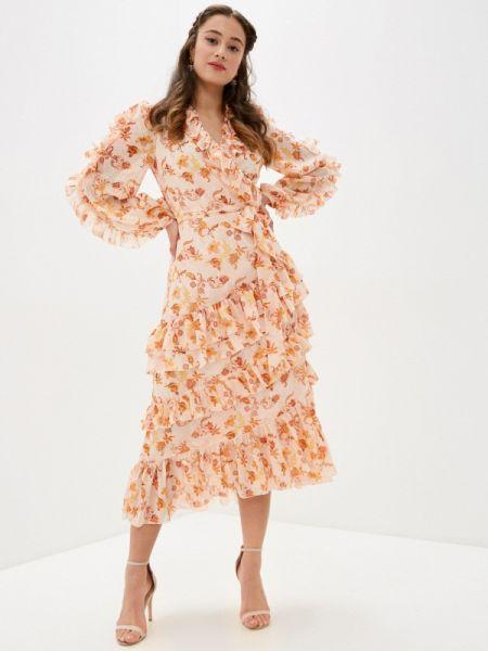 Однобортное розовое платье True Decadence