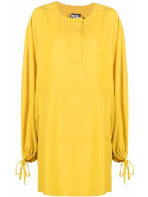 Желтое платье с завязками Diesel