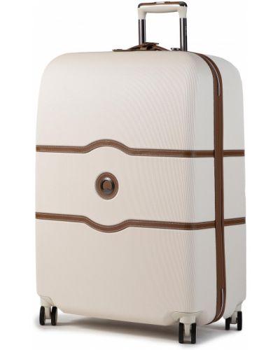 Beżowa walizka średnia Delsey
