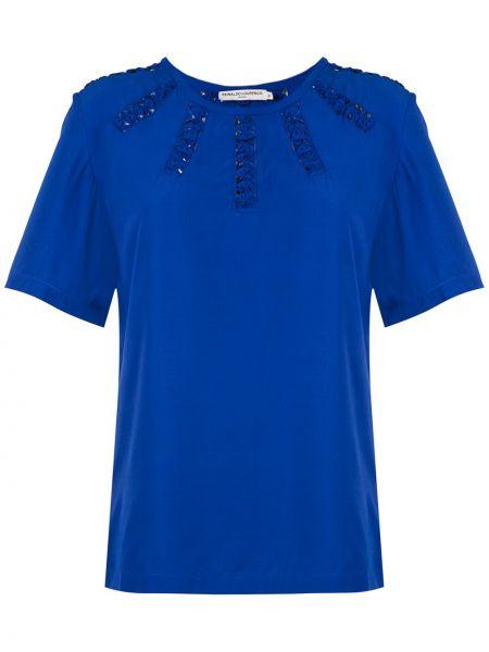 Прямая блузка с вырезом из вискозы круглая Reinaldo Lourenço