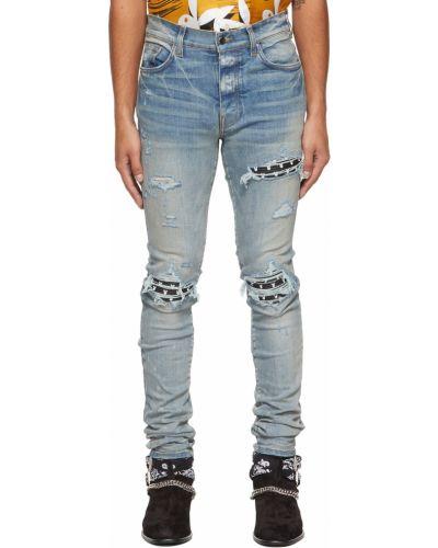 Белые джинсы с карманами Amiri