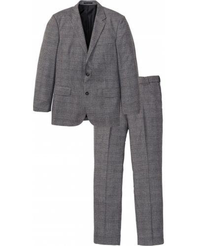 Серый костюмный костюм классический на пуговицах Bonprix