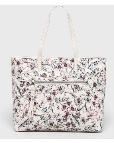Кожаная сумка через плечо - бежевая Fiorelli