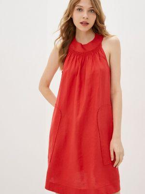 Прямое красное платье А-силуэта United Colors Of Benetton