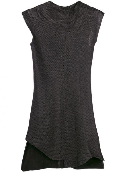 Асимметричное приталенное кожаное платье без рукавов Olsthoorn Vanderwilt