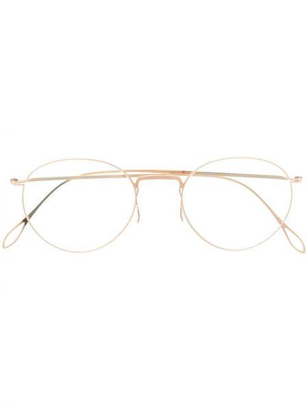 Prosto oprawka do okularów złoto okrągły Haffmans & Neumeister