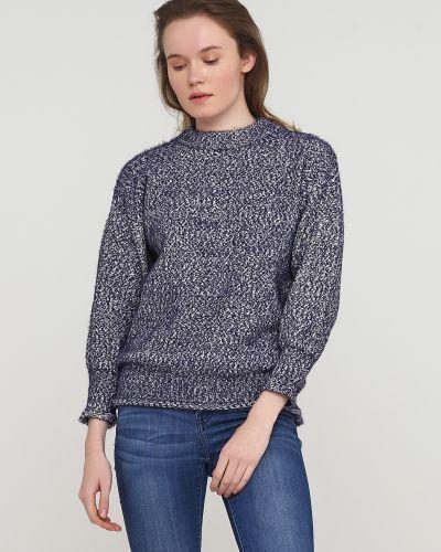 Синий свитер круглый с вырезом Frnch