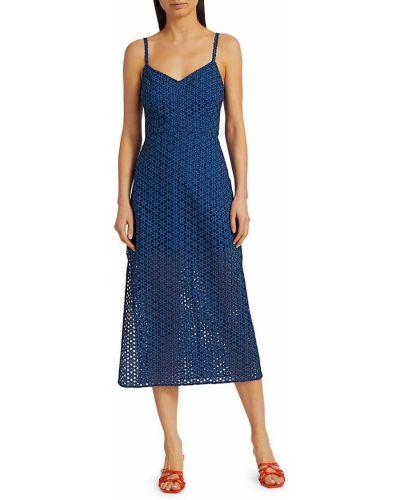 Синее платье с V-образным вырезом Rachel Comey