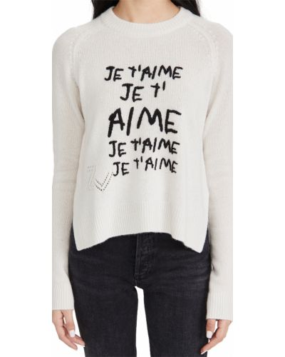 Мягкий кашемировый длинный свитер с длинными рукавами Zadig & Voltaire