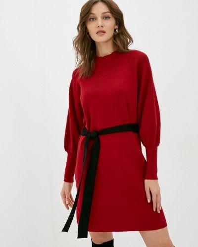 Красное вязаное платье Silvian Heach