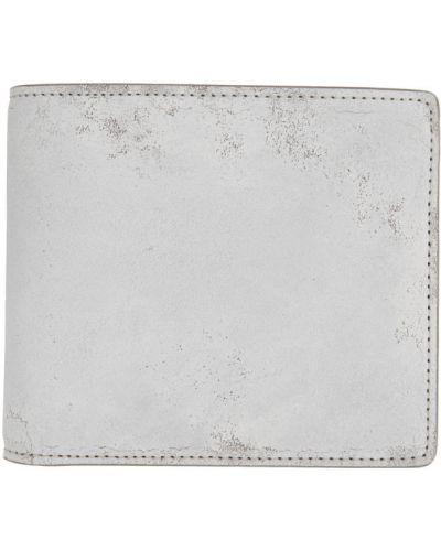 Белый кожаный кошелек с тиснением Maison Margiela