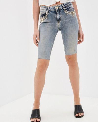 Серые джинсовые шорты D'she