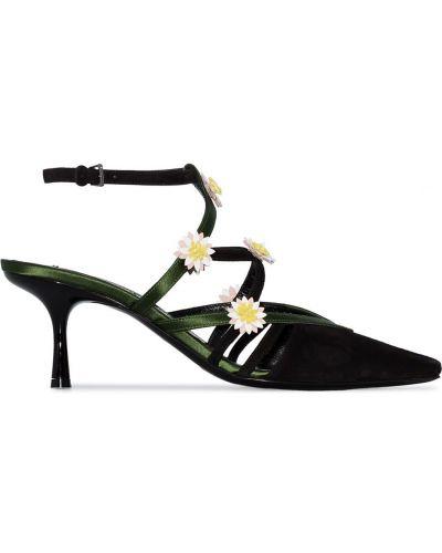 Черные туфли с ремешком с пряжкой Fabrizio Viti