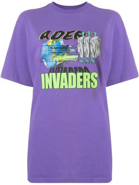Koszula z krótkim rękawem z nadrukiem karmazynowy Ader Error