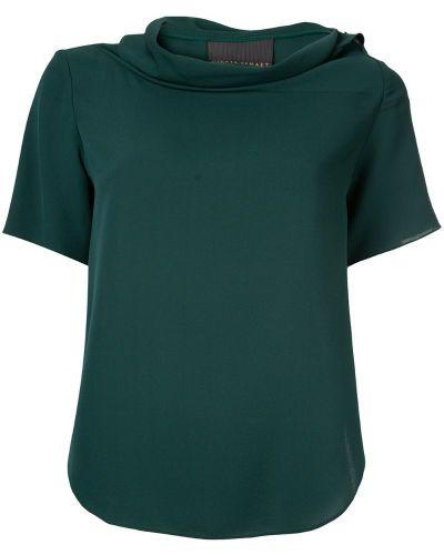Блузка свободного кроя зеленый Ginger & Smart
