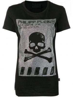 Прямая футбольная черная футболка Philipp Plein