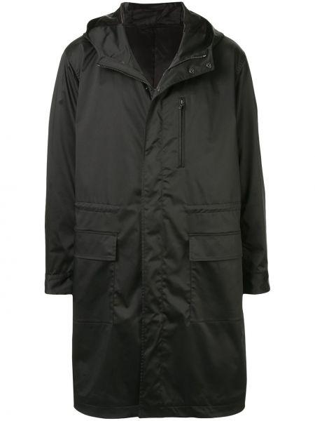 Черное длинное пальто на кнопках Knott Men