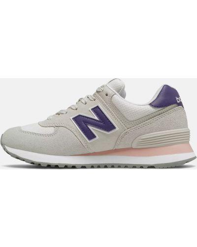 Серые повседневные кроссовки на шнуровке New Balance