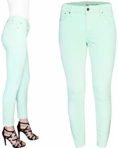 Zielone spodnie rurki bawełniane Gap