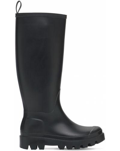 Ботильоны на каблуке - черные Gia Couture