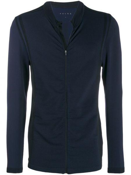 Niebieska długa kurtka z długimi rękawami Falke