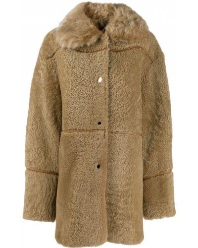 Длинное пальто с капюшоном Yves Salomon Meteo