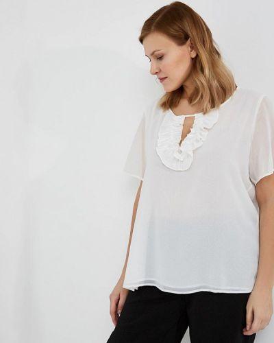 Белая блузка с рюшами Persona By Marina Rinaldi