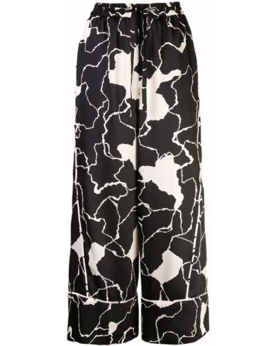 Свободные брюки с карманами с поясом Yigal Azrouel