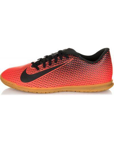 Красные бутсы зальные Nike