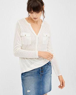 Блузка с длинным рукавом белая весенний Springfield