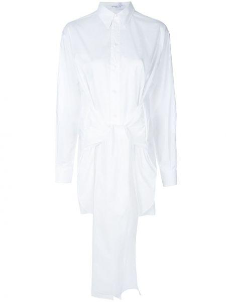 Biała klasyczna koszula bawełniana z długimi rękawami Givenchy