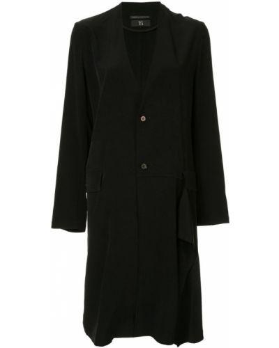 Черное длинное пальто Y's