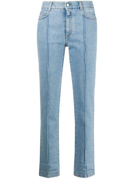 Синие укороченные джинсы вельветовые с карманами Stella Mccartney