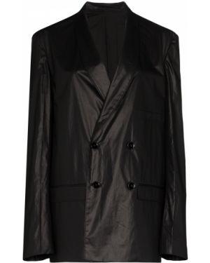 Черный пиджак двубортный с карманами Lemaire