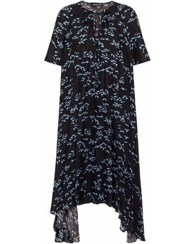 Платье из крепа - черное Markus Lupfer