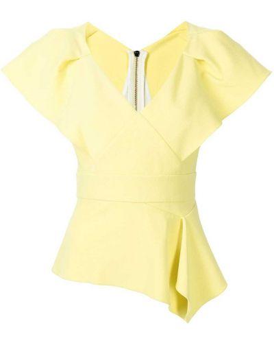 Żółta koszulka z wiskozy Roland Mouret