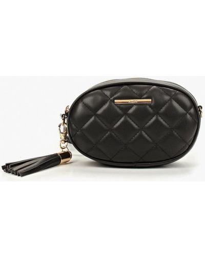 Поясная сумка кожаный черная Aldo
